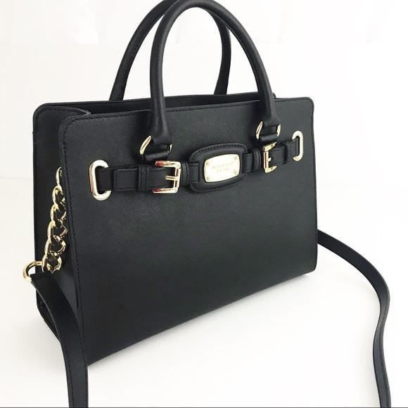 a092950b6cba Michael Kors Hamilton Satchel leather bag NWT